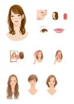 美顔バランス診断×パーソナルカラー 自分に似合うメイクがわかる / 西東社 / 書籍挿絵